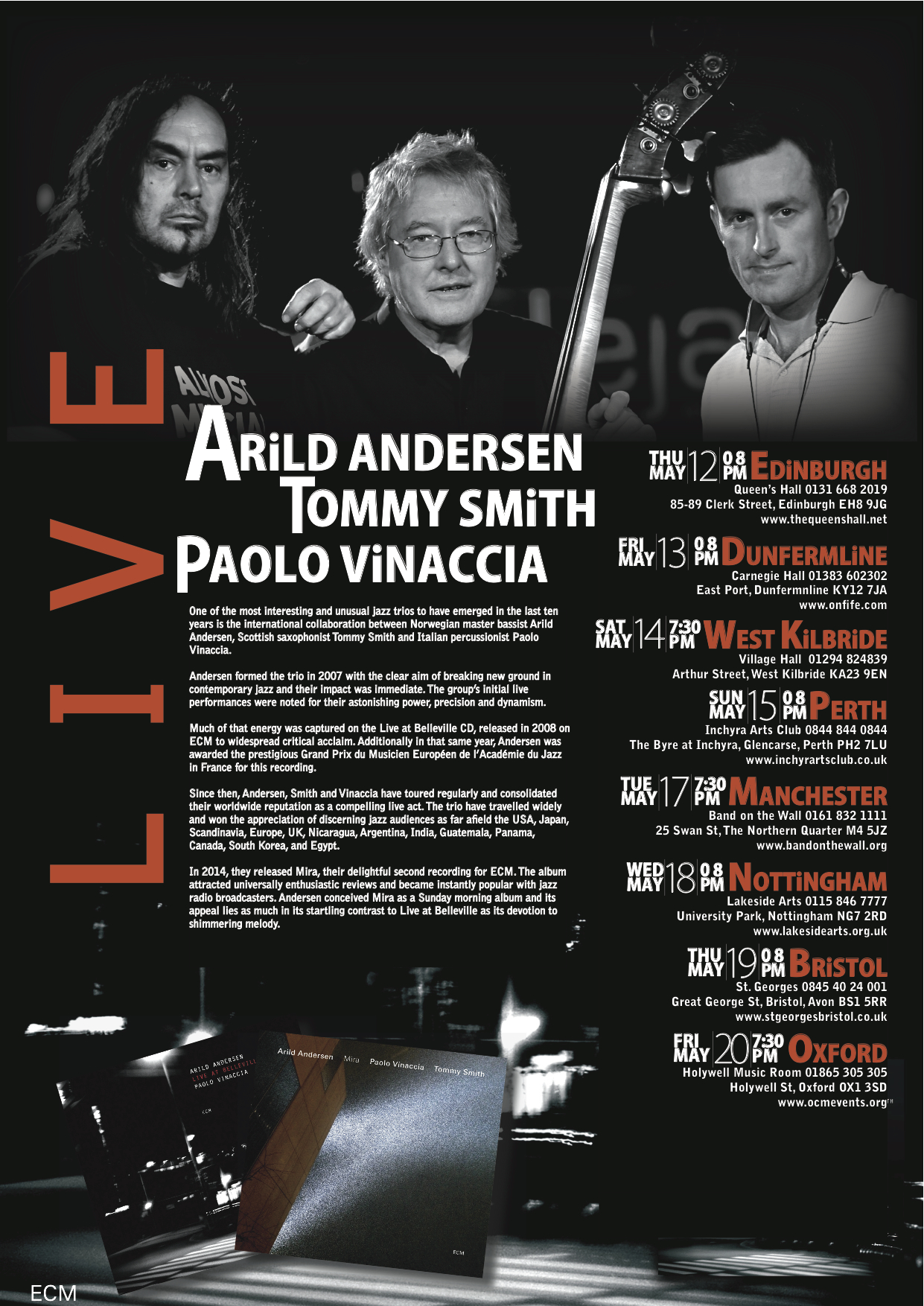 Arild Andersen Trio Poster A4 Final